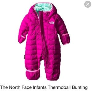 NWOT north face bunting suit